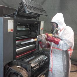 Reinigung Formatdruckmaschine